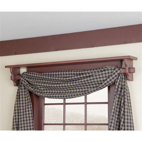 window shelf with curtain rod in irvin s country