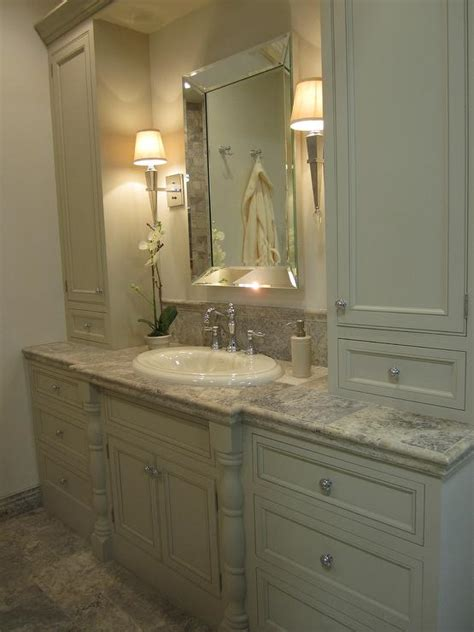 beveled mirror traditional bathroom