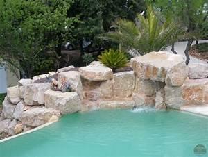 Piscine Avec Cascade : enrochement de pierres et cascade piscines pinterest ~ Premium-room.com Idées de Décoration