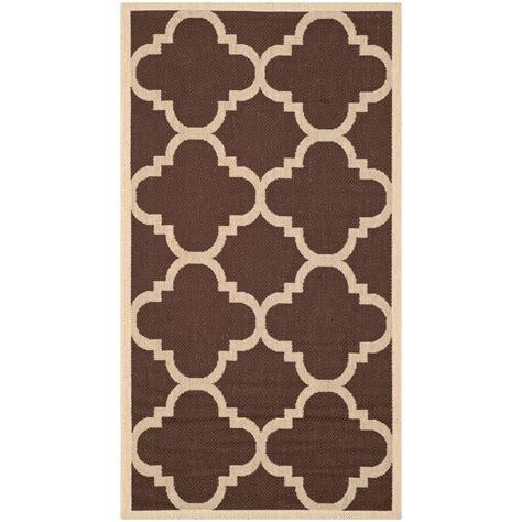 home depot outdoor rugs safavieh courtyard brown 2 ft x 3 ft 7 in indoor