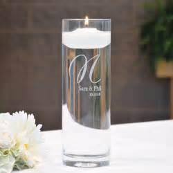 personalized wedding candles personalized glass vase floating unity candle