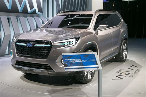 subaru viziv truck subaru viziv 7 suv concept first look review