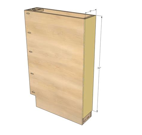 """But be aware fillers vary widely in type and qualities, and it may be difficult to find one of just the right colour. 6"""" Filler Tray Base Cabinet - Momplex Vanilla Kitchen   Ana White"""