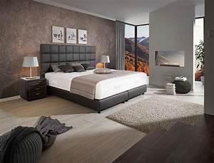 Schlafzimmer Mit Boxspringbett : schlafzimmer wandgestaltung lass dich inspirieren ~ Markanthonyermac.com Haus und Dekorationen