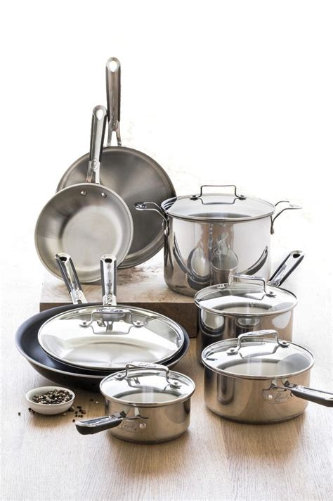 emeril lagasse  pc stainless steel cookware set