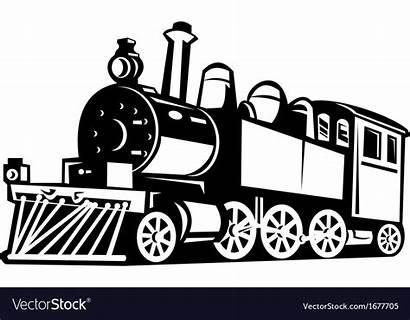 Train Steam Vector Locomotive Clipart Wall Stencil