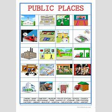 Picture Dictionary  City  Public Places Worksheet  Free Esl Printable Worksheets Made By Teachers