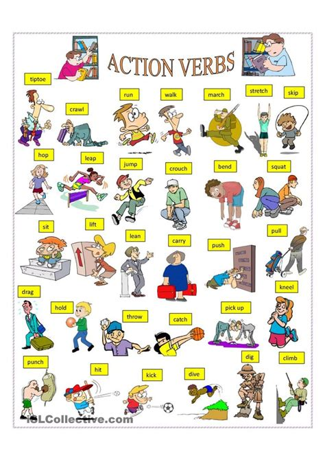 Action Verbs List 3rd Grade  1000 Ideas About Action