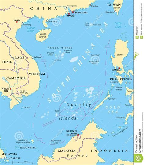 Het bestaat uit een groot aantal eilanden in het zuiden van de egeïsche zee, tussen het griekse vasteland en turkije. Overzeese Zuid- Van China Eilanden, Politieke Kaart Vector Illustratie - Illustratie bestaande ...