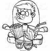 Clipart Boy Coloring Cartoon Movies Snacks Outline Watching Snack Clip Pages Drawing Clipartpanda Leishman Vector Ron Terms Weclipart Cliparts Leaving sketch template