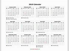 2019 Calendar with Holidays Bank Holidays 2019 In the Uk