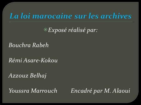 exposé sur la cuisine marocaine exposé sur la loi marocaine des archives