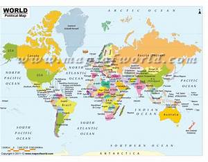 Buy Shop World Map with Countries in Native Names
