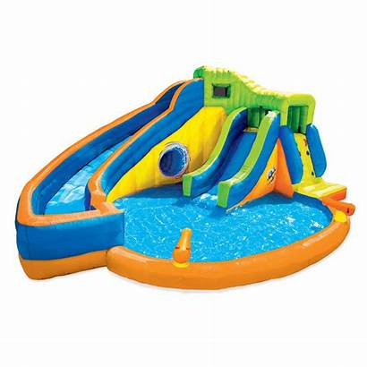Banzai Water Pool Inflatable Slides Park Outdoor