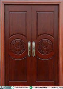 model pintu depan panil klasik modern kupu tarung desain