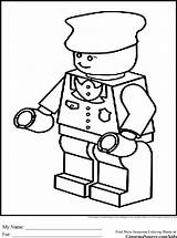 Lego Coloring Pages Police Train Conductor Block Colouring Printable Person Badge Sketch Hat Sheets Batman Printables Sheet Policeman Template Getcolorings sketch template