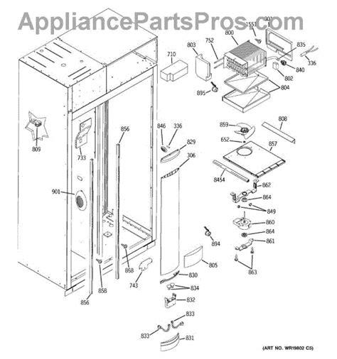 parts  ge zissdrdss freezer section parts appliancepartsproscom