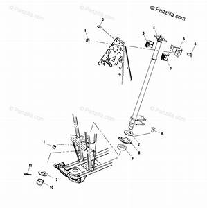Polaris Atv 2001 Oem Parts Diagram For Steering Post A01ch50aa