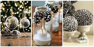 21 holiday pine cone crafts ideas for pinecone christmas With what kind of paint to use on kitchen cabinets for ball jar candle holder