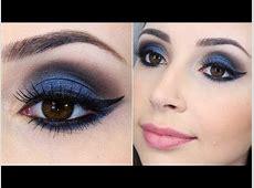 Tutorial de maquiagem azul para noite YouTube