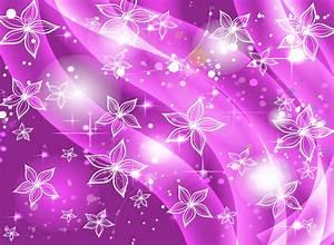 White Flower Purple Background