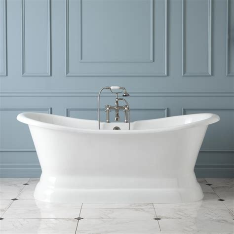 Bath Tubs by 72 Quot Langly Cast Iron Slipper Pedestal Tub