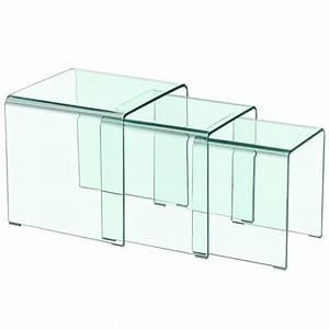 Table Basse Gigogne : table basse gigogne design transparent pas cher ~ Zukunftsfamilie.com Idées de Décoration
