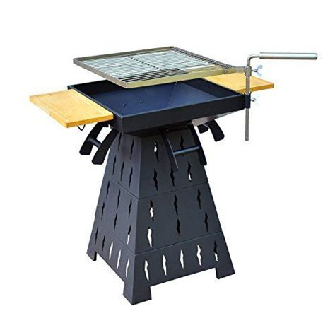 pit grill table outsunny wood burning charcoal outdoor pit bbq grill