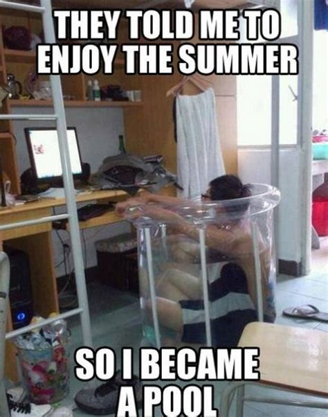 Stay Cool Meme - funny ways to stay cool this summer