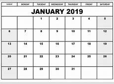 January 2019 Calendar A4 Templates March 2019 Calendar