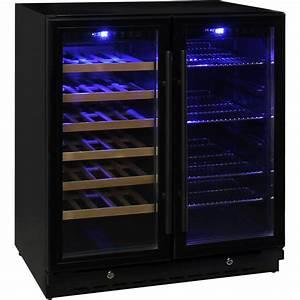 Schmick Black Twin Zone Beer And Wine Bar Fridge Designed