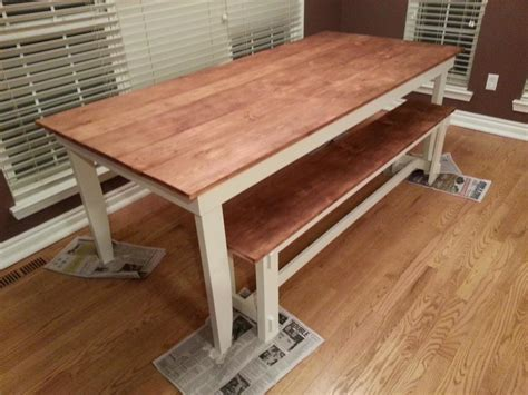 ana white rustic table  bench diy projects