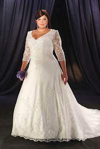 Plus size wedding dresses dressed up girl for Plus size sleeved wedding dress