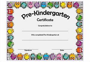 pre kindergarten certificate template 4 ssjpg best With pre k award certificate templates