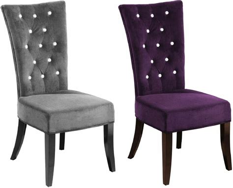 New 2 X Charcoal Velvet Grey Radiance Bedroom Dining Chair