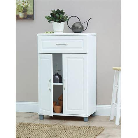 Walmart Storage Cabinets White by Systembuild 1 Drawer 2 Door Base Storage Cabinet White