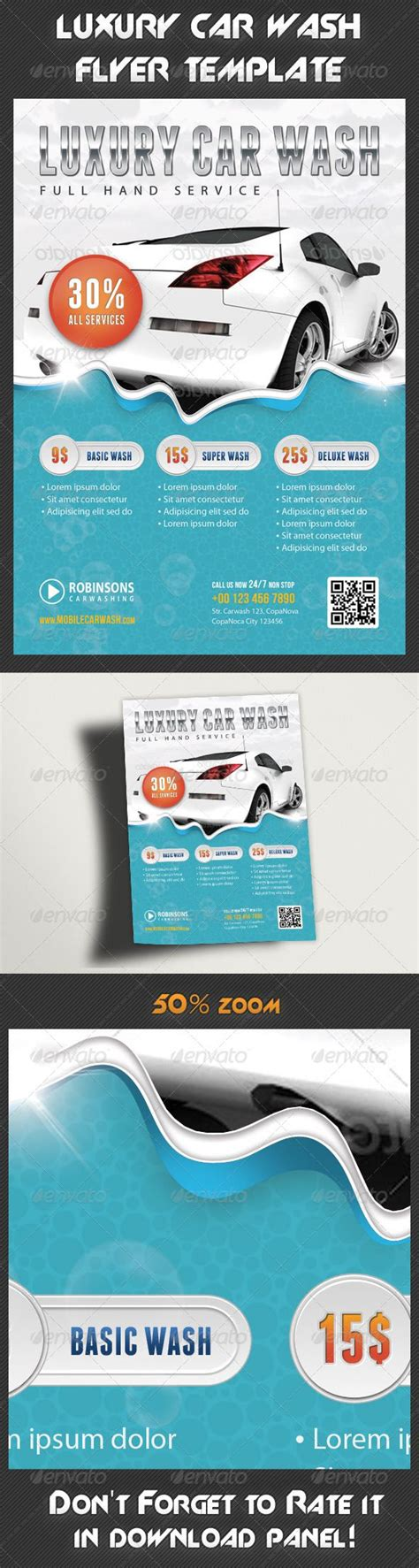 Boat Detailing Flyers by Car Wash Flyer Advertising Auto Clean Auto Detailing
