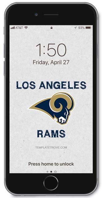 los angeles rams lock screen schedule  iphone