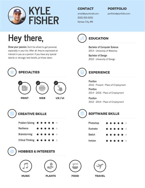 Resume Template by Infographic Resume Template Venngage