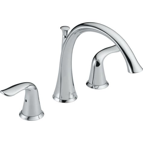 delta trinsic 1 handle floor mount roman tub faucet trim