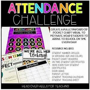monthly attendance tracker attendance challenge student circle numbers certificates