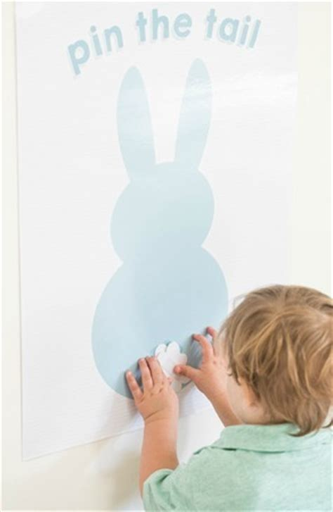 Printable Pin The Tail On The Bunny Game