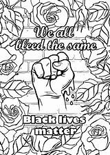 Coloring Matter Blm Lives sketch template