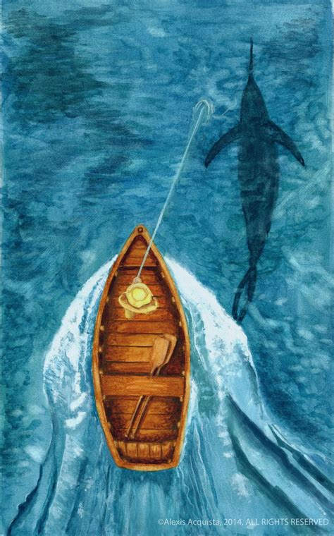 The Old Man And The Sea  Alexis Acquista Illustration