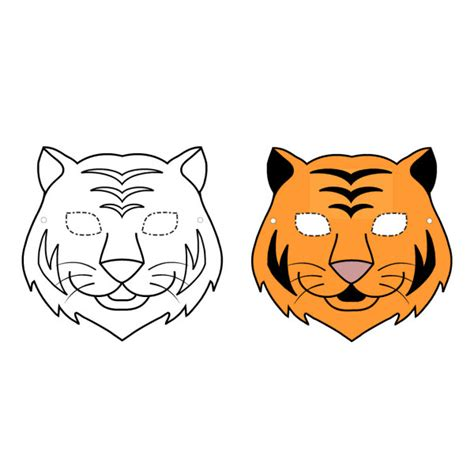 comment peindre une chambre en deux couleurs masque de tigre à imprimer gratuit