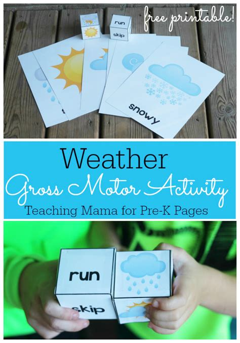 weather theme movement 608 | Weather Gross Motor Activity Pin