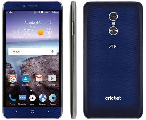 zte grand  max  launches  cricket    display