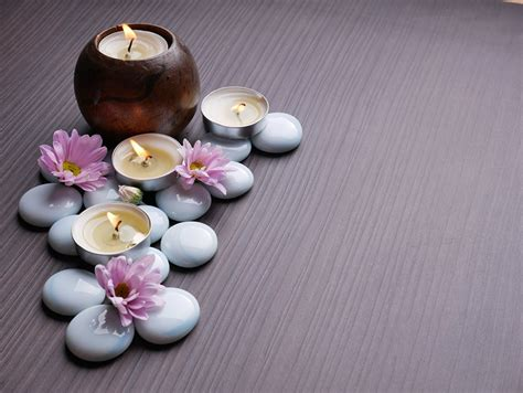 wallpaper spa stones candles