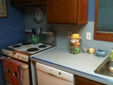 blue formica kitchen help want a kitchen redo but stuck with blue formica