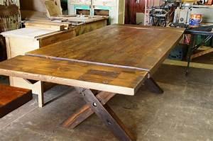 Table De Cuisine En Bois : table de cuisine 100 vieux bois n 1003 le g ant antique ~ Teatrodelosmanantiales.com Idées de Décoration